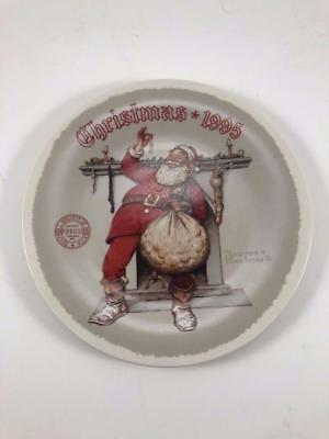 """Norman Rockwell Christmas 1989 """"JOLLY OLD ST. NICK"""" Collector Plate"""