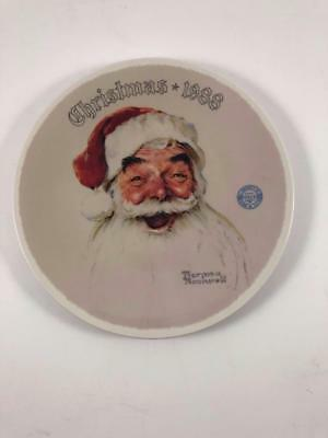 """Norman Rockwell Christmas 1988 """"SANTA CLAUS"""" Collector Plate"""