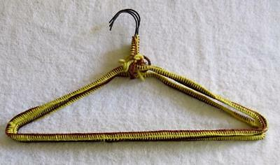 Vintage 60's Lot of 3 Handmade Crochet Yarn Covered Heavy Metal Clothes Hangers