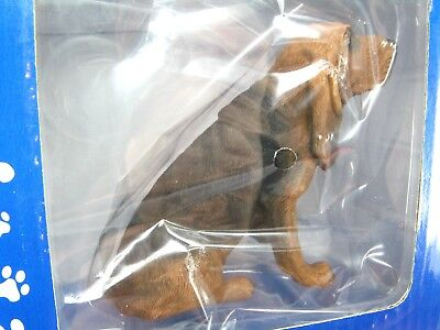 """NEW BLOODHOUND Brown Black DOG Figure - SS01301 SANDICAST IN BOX - 3"""" Tall"""