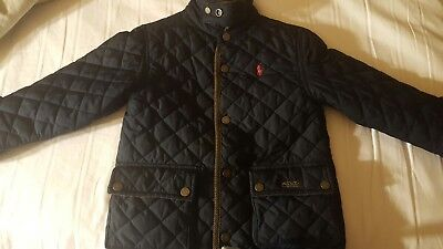 Polo Ralph Lauren Boys Quilted Barn Jacket-Navy - Size 4 toddler