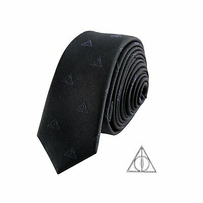 Harry Potter : Deluxe DEATHLY HALLOWS TIE with Pin Set from Cinereplicas