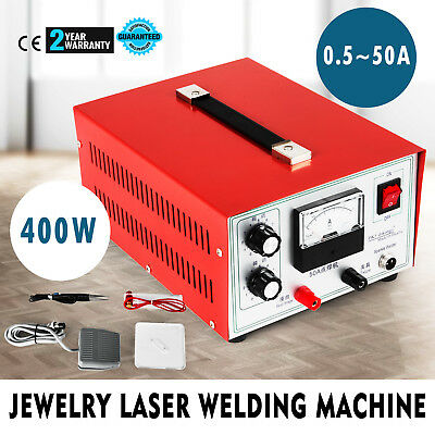 400W 50A Pulse Sparkle Spot Welder 110V Electric Jewelry Welding Machine DX-50A