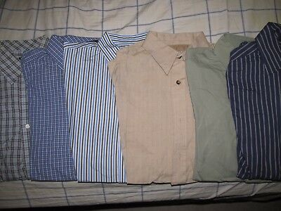 Men's Shirts Lot of 6 Size Small George Brand