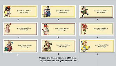 30 Personalized Return Address Labels Primitive Country Buy 3 get 1 free (pc13)