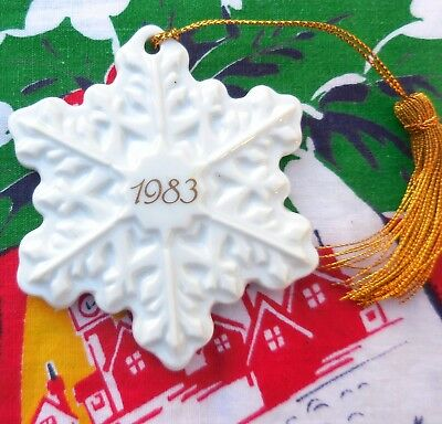 Avon 1983 Remembrance Ceramic Snowflake Christmas Ornament Made in Japan