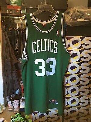half off cfef7 c293f NIKE AUTHENTIC LARRY Bird Green Jersey sz 48 rare vintage Boston Celtics XL