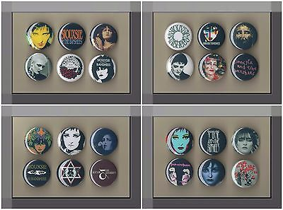 Siouxsie and the Banshees - 24 x 31 mm Button Badges - Siouxsie Sioux - Freepost