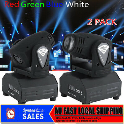 2x 50W RGBW Stage Light Beam LED Moving Head Lights DMX Disco DJ Bar Party Light