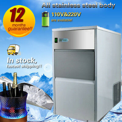 Stainless Steel Commercial 55Lbs Undercounter Ice Maker Machine Air Cube 110V L