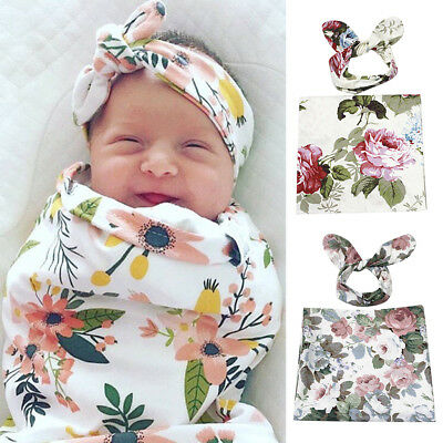 2pcs Newborn Baby Boys Girls Infant Swaddle Wrap Blanket Sleeping