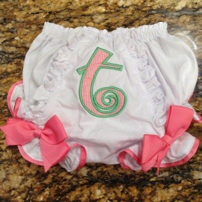 Vtg INITIAL BABY High Waist Panties Pink Trim Girls O-6mth  DOLL Clothing USA