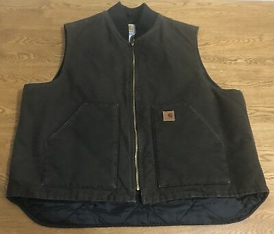 Carhartt Arctic Quilt Lined Vest Size Mens XXL 2XL Insulated Winter Work V02