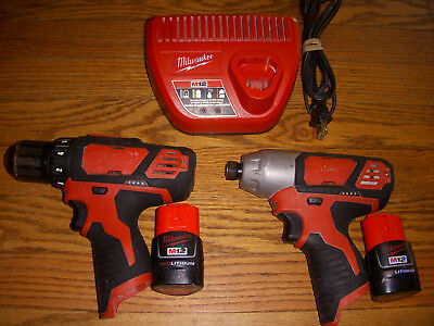 Milwaukee M12 12V lithium ion Drill/Driver Set (2407-20/2462-20) FREE SHIPPING