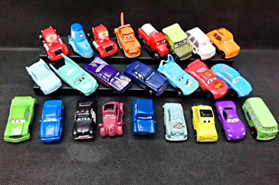 24 Disney Cars Lighting McQueen Action Figures Kid Playset Toy Cake Decor Topper