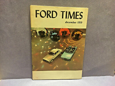 FORD TIMES MAGAZINES from 1959 excellent