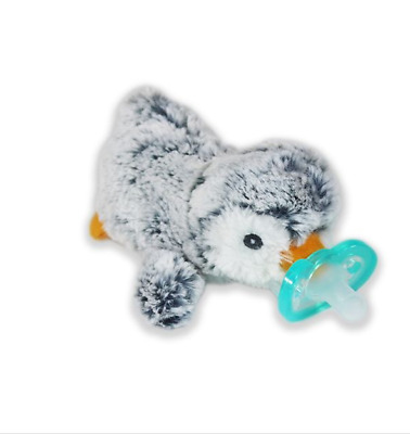 Razbaby Raz-Buddy Jollypop With Removable Pacifier Ethan Penguin Plush Toy
