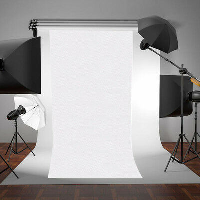 White Thin Vinyl Photography Backdrop Background Studio Photo Prop Portable New