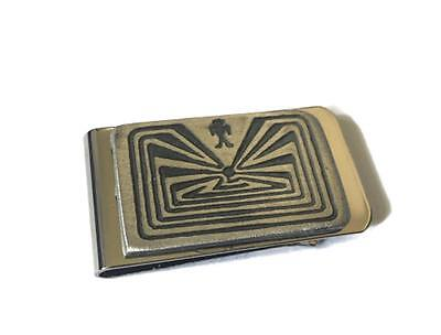 Indian Native American Money Clip Tooled Carved Maze Circle of Life Money Holder