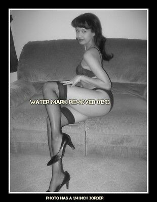 1950's Vintage Pinup Queen Bettie Page 8.5x11 Glossy Photo Free Shipping