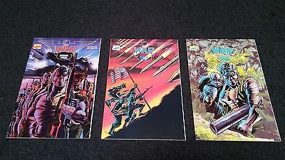 The War Book #1-3 1989 Marvel Comic Book Lot VG Missing #4
