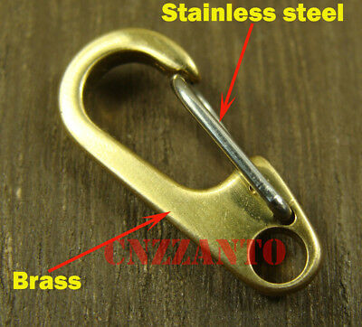 26mm Deep polishing Solid brass Carabiner Spring Snap Hook Clip key chain