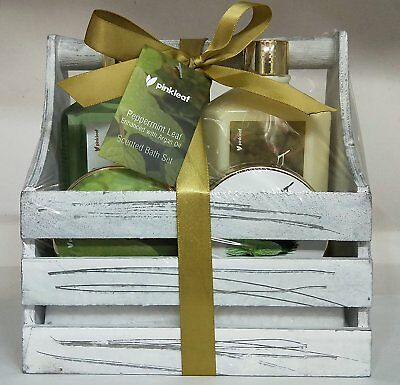 Peppermint Bath & Body Care Gift Set–5pc Scented Stress-Relief Aromatherapy-New