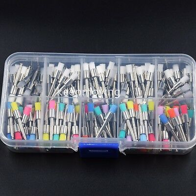 200 Pcs Dental Disposable Polisher Prophylaxis Polishing Brush Flat Latch Prophy