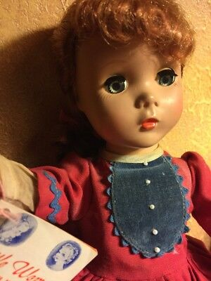 "Vintage 1950s Madame Alexander Sweet Jo Doll Little Women Maggie Face 14"" Gift"