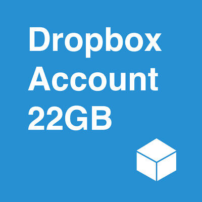 New Dropbox Account With 22GB Lifetime Storage