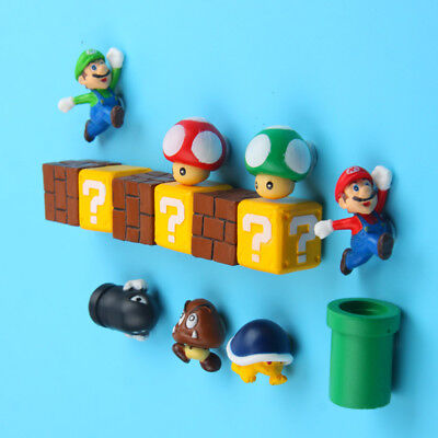 1pc3D Super mario Fridge Magnet Sticker Refrigerator Decoration