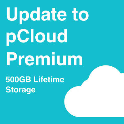 Upgrade pCloud Basic Account to Premium Account with 500GB Lifetime Storage