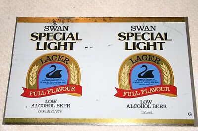 Swan Special Light Beer Can Sheet