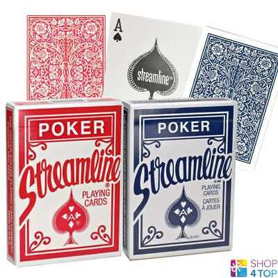 2 Decks Streamline 1 Red And 1 Blue Playing Cards Magic Tricks Poker New