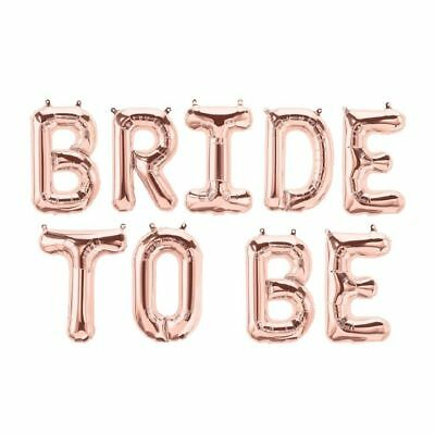 BRIDE TO BE Rose Gold Buchstaben Folienballons Heliumballon Luftballon Geburts