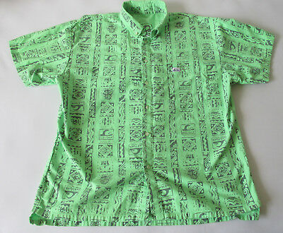 Vintage 80s Quiksilver Woven Men's Short Sleeve Button Down Shirt MD