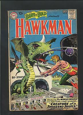 Brave and Bold #34, 1st Silver Age Hawkman, Kubert cover art