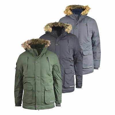 fcf4ba79b2e1 Mens Jacket Crosshatch Heavy Weight Killblake Fur Hood Parka Padded Winter  Coat