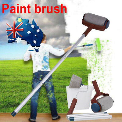 1Set Paint Roller Brush Handle Pro Flocked Edger Wall Painting 3X Extended Poles