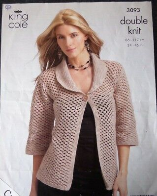 """Crochet Pattern  ladies cardigan and sweater. 34 up to 46"""""""