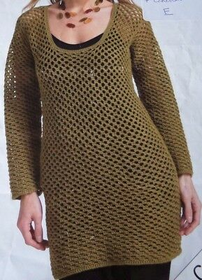 Crochet Pattern  ladies cardigan and sweater 34 to 46 inch / 86 to 117 cm