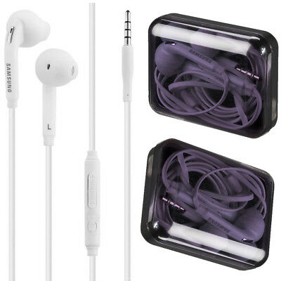 Genuine Samsung White Wired Handsfree Headphones Earphones for Galaxy S6 S7 S8