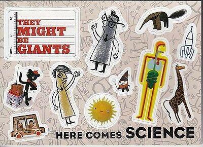 They Might Be Giants Here Comes Science RARE promo sticker sheet '09 (11 in 1)
