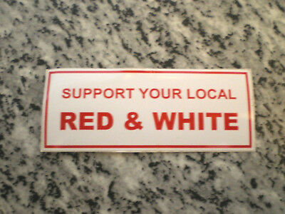 """HELLS ANGELS Support 81 Sticker Aufkleber """"Support your local Red & White"""""""