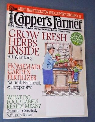 Capper's Farmer Magazine Fall 2016 Grow Herbs Inside All Year Long Food Labels