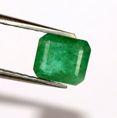 Natural Emerald Octagon Cut 7x6 mm 1.32 Cts Brazilian Untreated Loose Gemstone