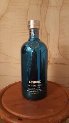 $$$ ABSOLUT VODKA BLUE ELECTRICS SECURITY CAP 700 ml FROM GREECE NEW & SEALED $$