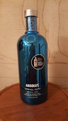 $$$ ABSOLUT VODKA BLUE ELECTRICS 750 ml USA NEW & SEALED $$$ PERFECT CONDITION!
