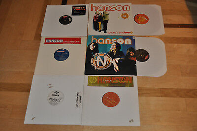 Lot of 6 Hanson PROMO Records! Mmmbop, Where's The Love!