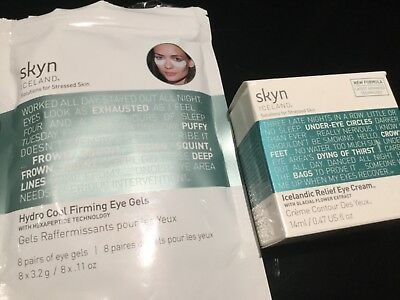 Skyn Iceland Icelandic Relief Eye Cream14ml |Hydro Cool Firming Eye Gels 4 pairs